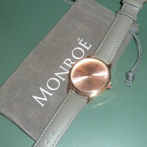 Monroe by Maestro Watch Classique, Rose Gold with Gray Band, New!